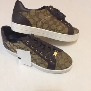 Coach brown and tan sneaker size 9
